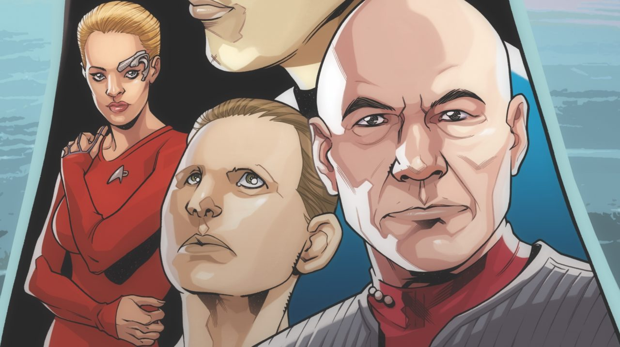 Star Trek: The Q Conflict #1 Cover A by David Messina. Written by Scott and David Tipton, drawn by David Messina and Elisabetta D'Amico. Published by IDW Publishing. 30 January, 2019.