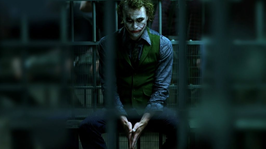 Heath Ledger as Joker in prison