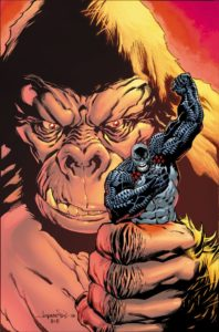 Damage fighting a giant ape