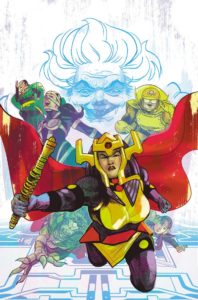 Barda leading the Furies while Granny looms
