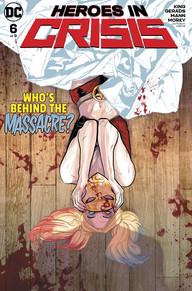 Harley laying under a blood splattered robe with a sanctuary mask