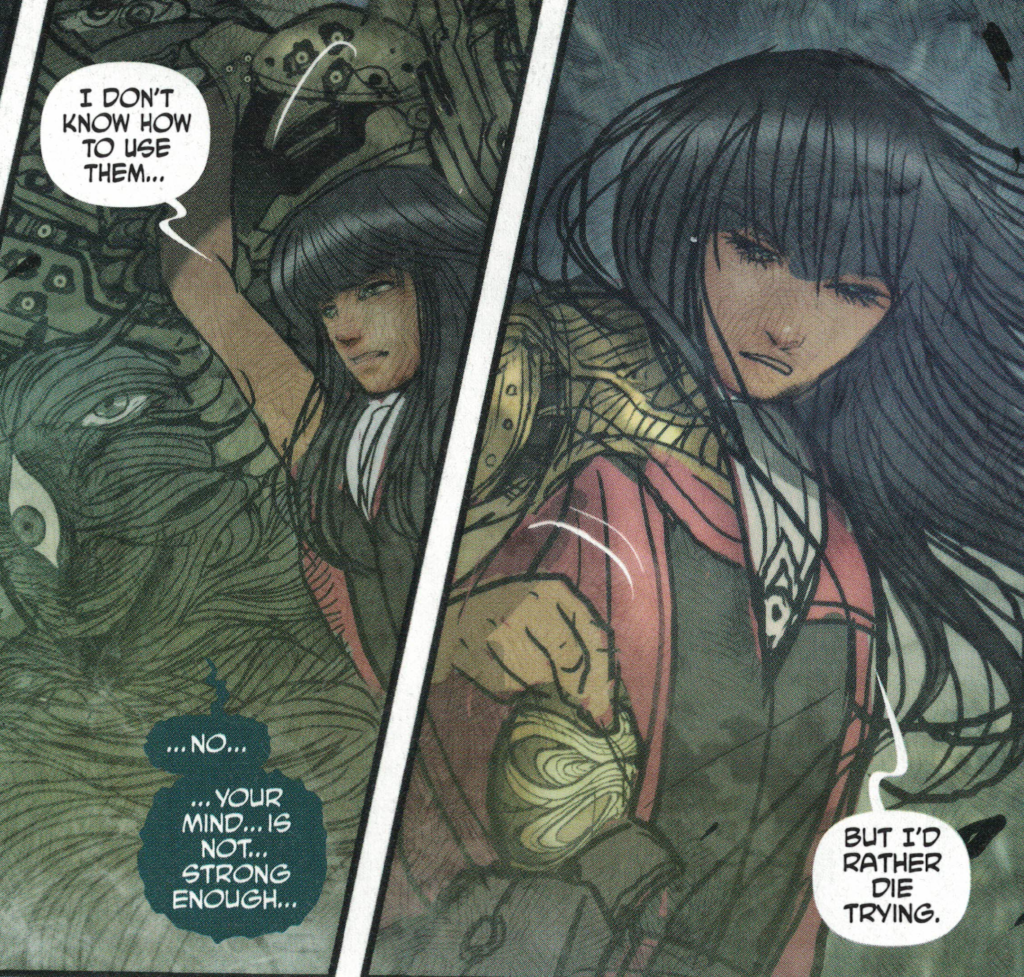 Panel from Monstress by Marjorie Liu and Sana Takeda, Image Comics