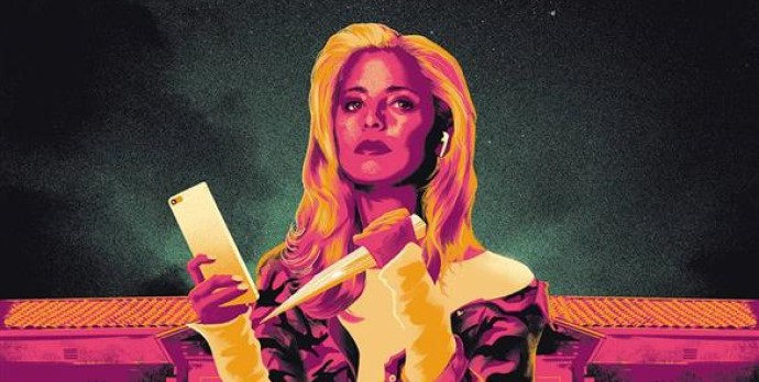 Buffy the Vampire Slayer holds a cellphone and a wooden stake as shadowed figures stand behind her in Buffy the Vampire Slayer: Welcome Back to Hellmouth #1 (BOOM! Studios, January 2019)