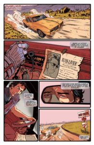 Second Page of Army of Darkness vs Bubba Ho-Tep #1: Army of Darkness/Bubba Ho-Tep #1 Scott Duvall (writer), Vincenzo Frederici (art), Michele Monte (colors), Taylor Esposito (letters), Carlos Gomez and Salvatore Aiala; Tom and Sian Mandrake; Robert Hack; Diego Galindo; Emma Kubert and Brittany Pezillo (covers) February 2019 Dynamite Comics