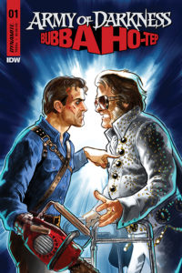 Diego Galindo Cover image for Army of Darkness vs Bubba Ho-Tep #1: Army of Darkness/Bubba Ho-Tep #1 Scott Duvall (writer), Vincenzo Frederici (art), Michele Monte (colors), Taylor Esposito (letters), Carlos Gomez and Salvatore Aiala; Tom and Sian Mandrake; Robert Hack; Diego Galindo; Emma Kubert and Brittany Pezillo (covers) February 2019 Dynamite Comics