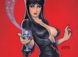 Elvira Goes Hollyweird in Elvira: Mistress of the Dark #4