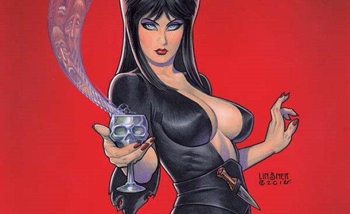 Elvira Goes Hollyweird in Elvira: Mistress of the Dark #4