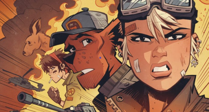 Tank Girl Ongoing #1: Action Alley #1 Alan Martin, Lou Martin (writing and story); Brett Parson (art, colors, covers A, B and D, and lettering); Greg Staples (cover C)