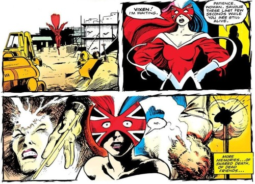 Delano/Davis ± digital chamelion, Captain Britain #13, 1985, marvel UK, colours added later