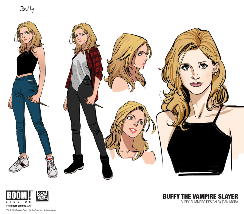 Buffy the Vampire Slayer character sketches by Dan More (BOOM! Studios)