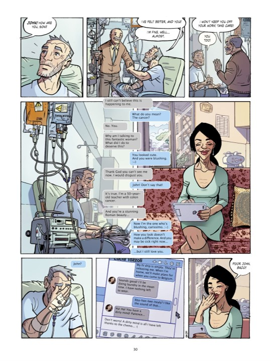 John and Lucilla text in John - Life Is Worth Fighting For Page 30. Written by Luc Colemont and drawn by Mario Boon. Published by Europe Comics. March 19, 2019.