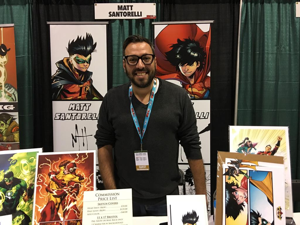 Matt Santorelli at Toronto Comic Con 2019.