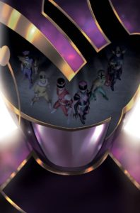 Mighty Morphin Power Rangers #37 Cover B by Miguel Mercado. Written by Marguerite Bennett and drawn by Simone Di Meo. Published by BOOM! Studios. March 27, 2019.