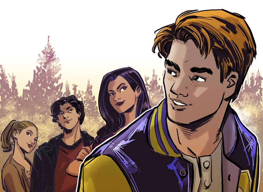 Riverdale Season 3 #1 Cover A by Thomas Pitilli. Written by Michael Ostow, drawn by Thomas Pitilli and Joe Eisma. Published by Archie Comics. March 13, 2019.