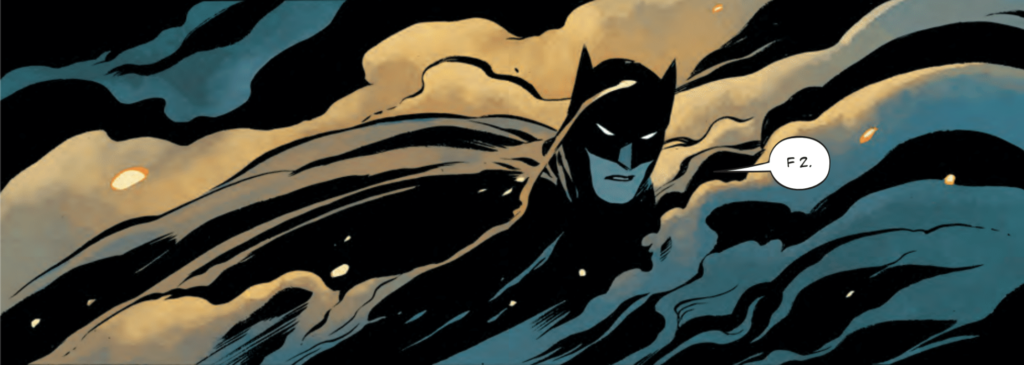 From The Batman's Design by Warren Ellis, Becky Cloonan, Jordie Bellaire and Simon Bowland in Detective Comics #1000