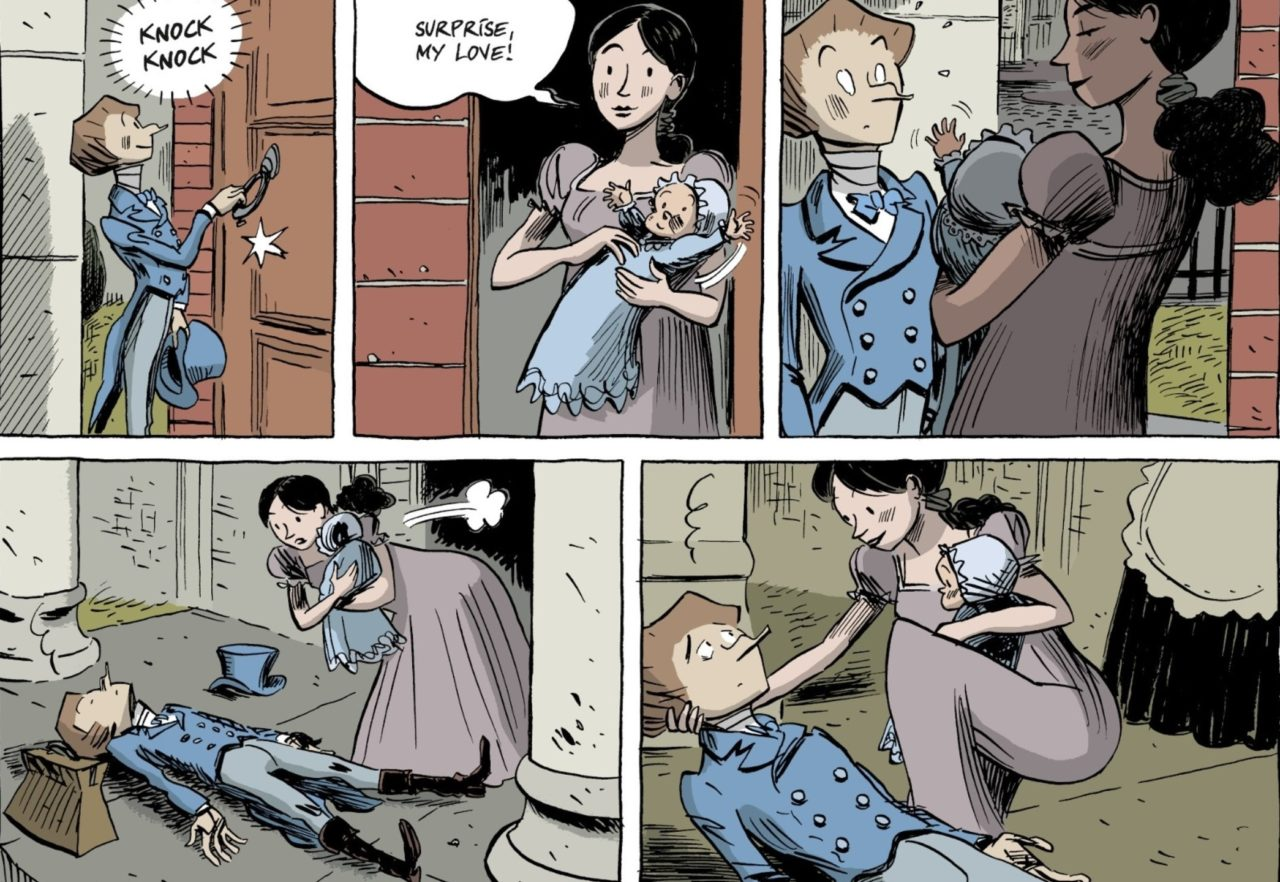 Shelley Page 48. Written by Vandermeulen and drawn by Daniel Casanave. Published by Europe Comics. February 14, 2019.