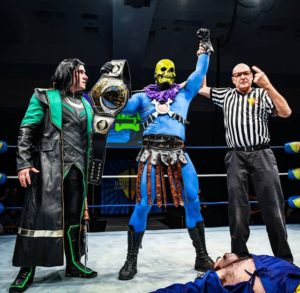 Evil wins the night at Floride Supercon 2018. Photo credit: Rob Holt, Fisticuffs Photography