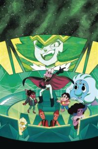 Cover For Steven Universe #25 Gabriele Bagnoli (Art); Terry Blas (Writing); Mike Fiorentino (Letters); Joana Lafunte (Colors); Jen Bartel, Missy Pena, Francesca Perrone and Xiao Tong Kong (Covers) KaBOOM! February 2019