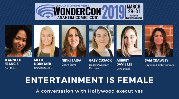 """Entertainment is Female"" WonderCon panel featuring female Hollywood executives"