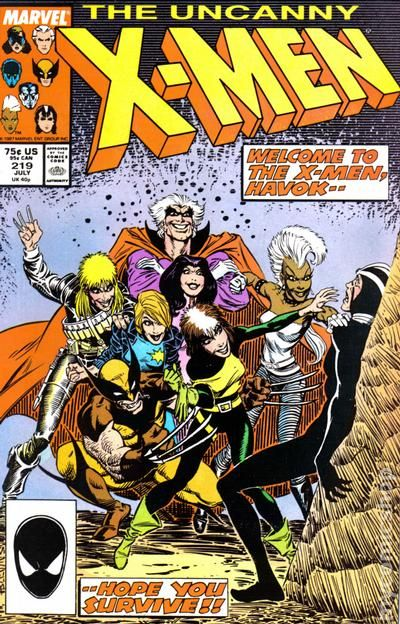 "Havok, his back pressed to a wall, cowers in fear before X-Men who are intent to kill him. ""Welcome to the X-Men, Havok"""