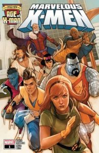 Jean Grey and Colossus lead a team of X-Men off the page