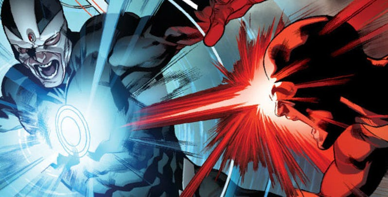 Cyclops and Havok fight each other