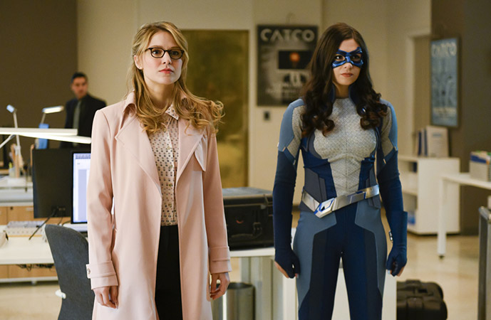 Kara Danvers and Dreamer right after the interview