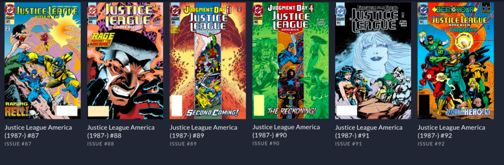 Justice League America ends at issue 92