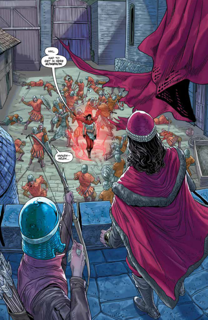 The Forgotten Queen #3 , page 9 (Valiant Comics, April 2019)