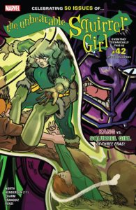 Three different versions of Squirrel Girl take on Kang the Conquerer