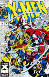 Omega Red wraps the X-Men up in his whips