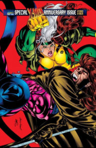 Gambit and Rogue fight each other