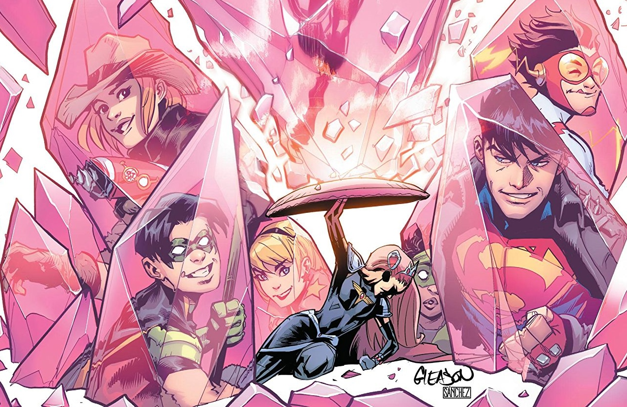 Young Justice #5 Cover A by Patrick Gleason. Written by Brian Michael Bendis, drawn by Kris Anka, Evan 'Doc' Shaner, and John Timms. Published by DC Comics. May 1, 2019