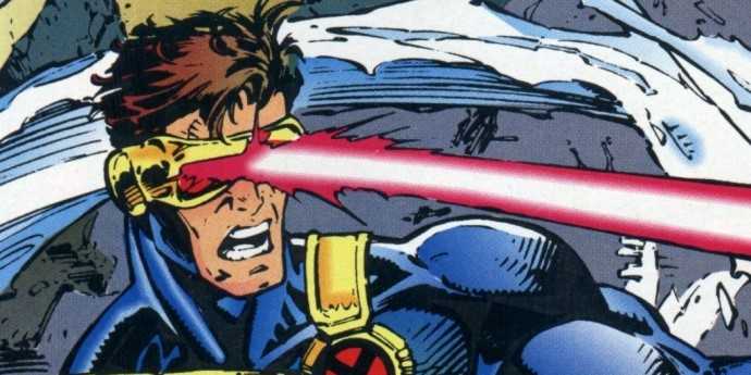 Cyclops fires his optic blasts