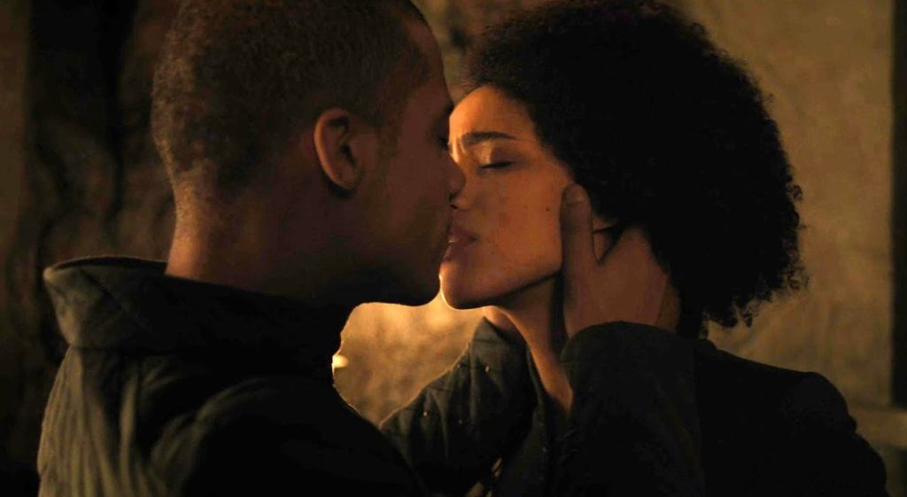 Missandei and Grey Worm share a kiss