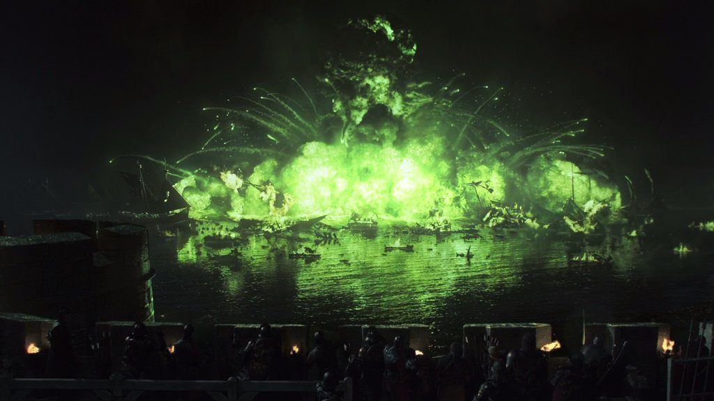 The Blackwater bay explodes with green wildfyre