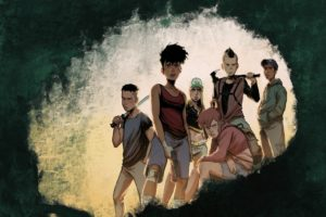 Green Class: Pandemic Cover. Written by Jérôme Hamon, drawn by David Tako. Published by Europe Comics. April 17, 2019. - A group of young people wearing grim expressions and holding various weapons