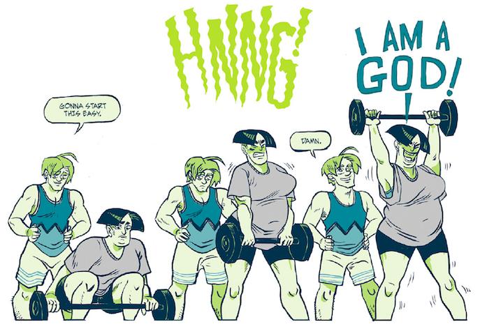 Jane dead lifts - via Kat Verhoeven and Conundrum Press