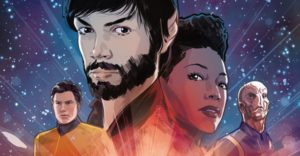 Star Trek: Discovery comic cover by Tony Shasteen - Character portraits of the leads from Star Trek: Discovery
