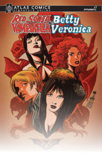 Red Sonja and Vampirella meet Betty & Veronica #1 Cover B by Francesco Francavilla. Written by Amy Chu and drawn by Maria Sanapo. Published by Dynamite Comics. May 5, 2019.