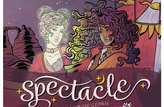Cropped image from the volume 1 trade of Spectacle by Megan Rose Gedris, Oni Press
