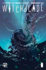 Witchblade #17 (Top Cow Comics, July 2019) - A spiral-like structure in wide view against a dark landscape