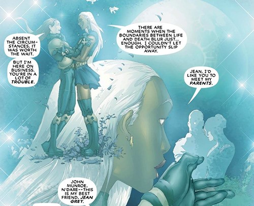 Jean and Ororo reunite on the astral plane