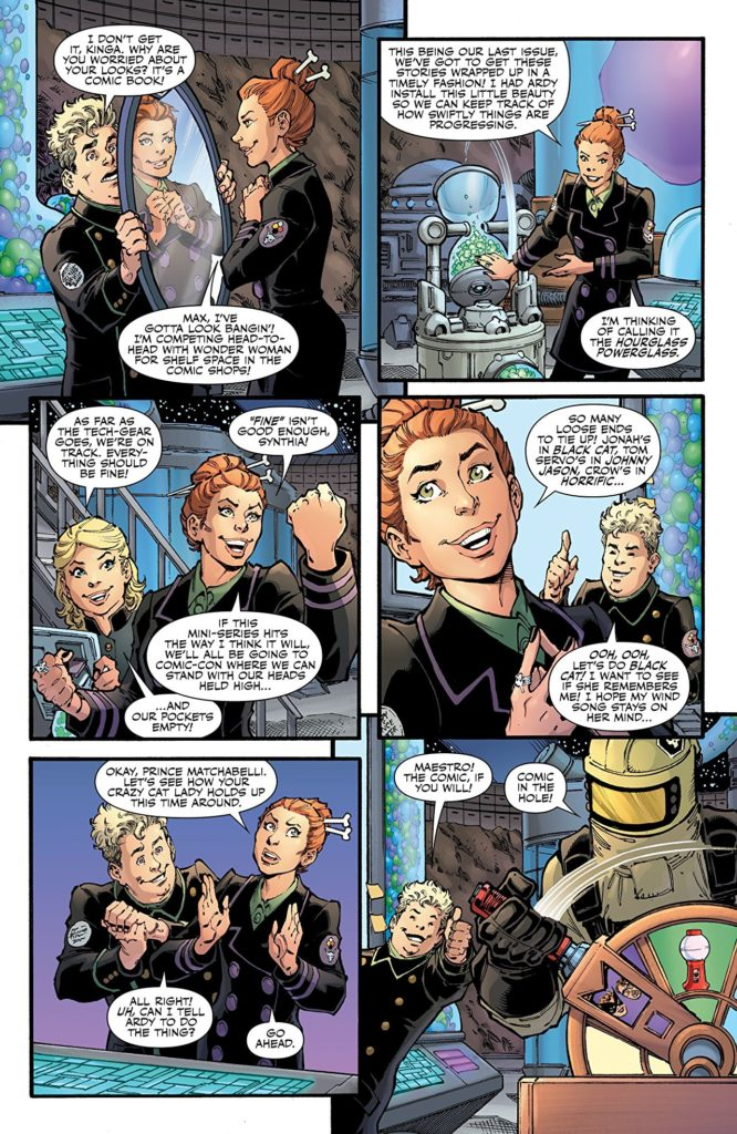 Page from Mystery Science Theater 3000: The Comic #6 (Dark Horse Comics, 2019) - Kinga converses villanously with sidekick Max