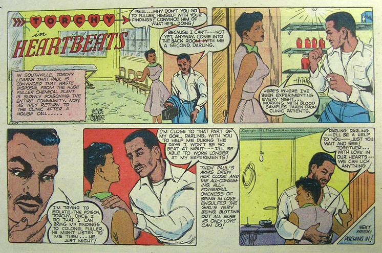 "Scan of Jackie Ormes' ""Torchy in Heartbeats"", from The Ohio State University Billy Ireland Cartoon Library & Museum."