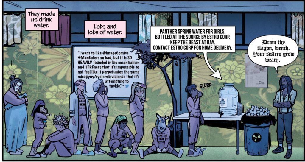 An uncredited tweet used in Man-Eaters #9 (Images Comics, June 5, 2019)