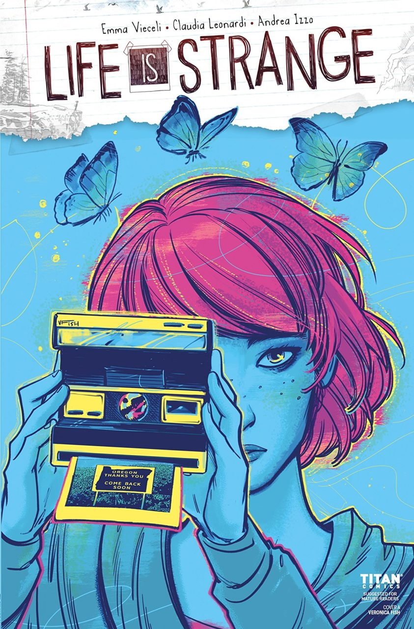 Cover for Life Is Strange #5 - A girl takes a picture with an instant camera