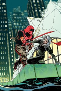 Cover for Red Hood: Outlaw #35 - Red Hood fighting Essence