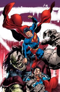 Cover for Superman #12 - Superman and Superboy fighting Rogol Zaar