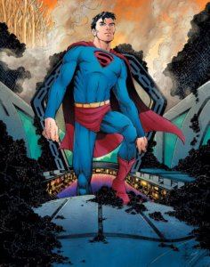 Cover for Superman: Year One #1 - A young Superman standing on his rocket